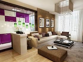 现代现代风格客厅吊顶设计案例展示