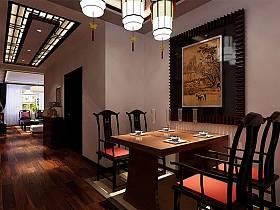 中式中式風格餐廳40平米140平米設計案例展示