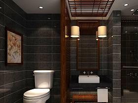 中式中式风格卫生间40平米140平米设计案例