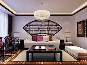 中式中式風格客廳40平米140平米吊頂圖片