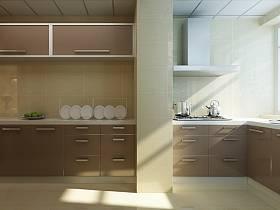 现代现代风格厨房三居装修效果展示