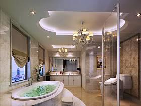 法式卫生间浴室设计案例