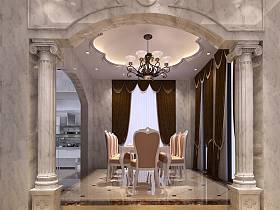 法式餐厅别墅吊顶设计图