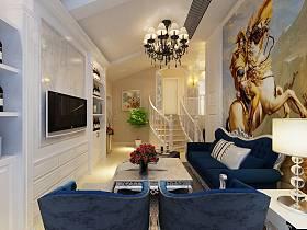 法式客厅别墅电视背景墙设计方案
