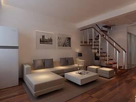 客厅跃层吊顶楼梯装修效果展示