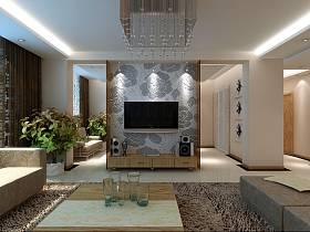 客厅沙发电视柜电视背景墙设计方案