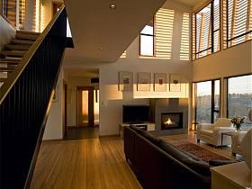 现代现代风格客厅别墅电视背景墙装修效果展示