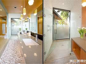 现代现代风格卫生间别墅装修效果展示