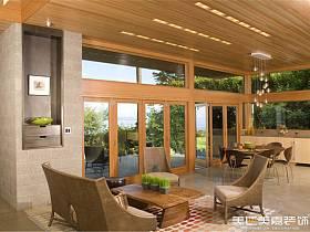 现代现代风格客厅别墅案例展示