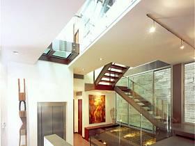 现代现代风格过道楼梯装修效果展示