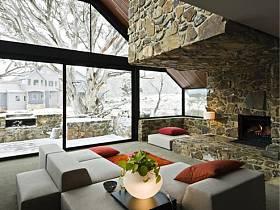 现代现代风格客厅别墅效果图