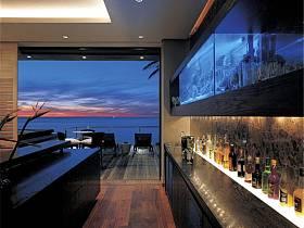 现代现代风格吧台别墅酒柜设计图