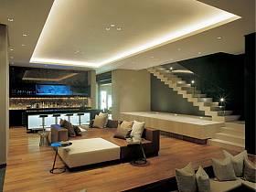 现代现代风格别墅休闲区楼梯装修案例
