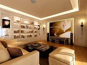 现代简约客厅吊顶设计案例展示