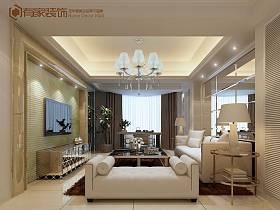 現代客廳吊頂窗簾電視柜電視背景墻圖片