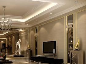 新古典客厅背景墙电视背景墙设计方案