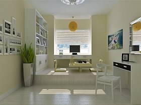 现代简约现代简约简约风格现代简约风格书房榻榻米设计案例展示