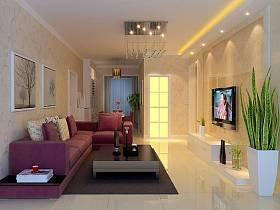 现代简约现代简约简约风格现代简约风格客厅吊顶电视背景墙装修案例