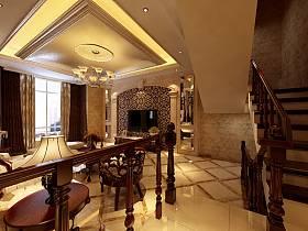 美式美式风格过道楼梯设计案例展示