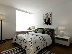 现代简约卧室背景墙装修案例