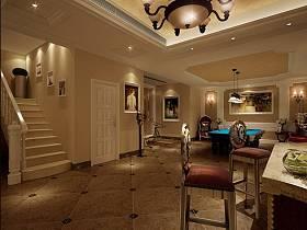 美式休闲区楼梯装修效果展示