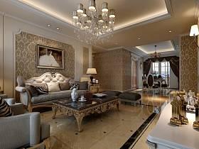 欧式欧式风格客厅吊顶背景墙沙发客厅沙发设计案例展示