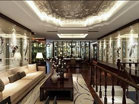 欧式客厅楼梯设计图