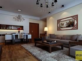 中式中式风格客厅背景墙沙发客厅沙发设计案例