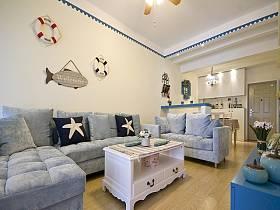 地中海地中海风格客厅背景墙沙发客厅沙发效果图