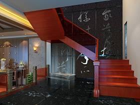 中式楼梯装修案例