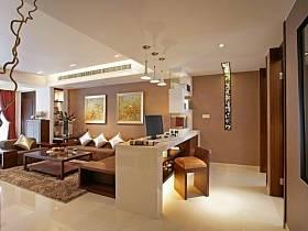 中式中式风格新中式过道四居装修图
