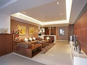 中式中式风格新中式客厅四居吊顶装修图