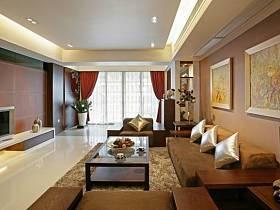 中式中式风格新中式客厅四居设计图