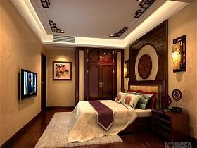 中式卧室别墅整体衣柜卧室衣柜设计案例展示