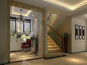 欧式欧式风格别墅过道楼梯装修效果展示
