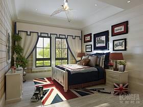 英伦清新卧室图片