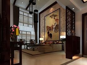 中式客廳背景墻設計方案