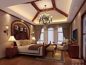 臥室別墅窗簾電視柜電視背景墻設計案例