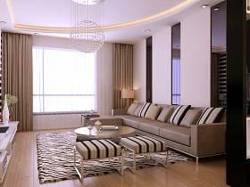 现代客厅沙发茶几装修图