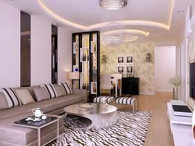 现代客厅沙发茶几装修案例