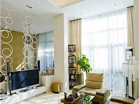 现代客厅别墅电视背景墙设计图