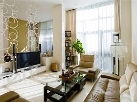 现代客厅别墅电视背景墙装修案例