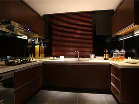 現代廚房三室兩廳兩衛設計圖