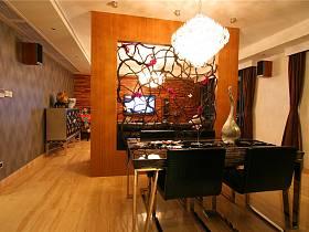 现代餐厅三室两厅两卫隔断设计案例展示