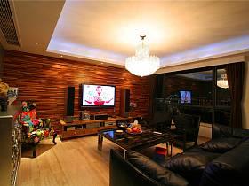 現代客廳電視背景墻設計案例