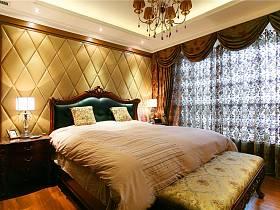 中式卧室窗帘案例展示