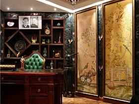 中式书房吊顶装修效果展示