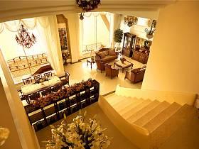 欧式别墅过道楼梯效果图