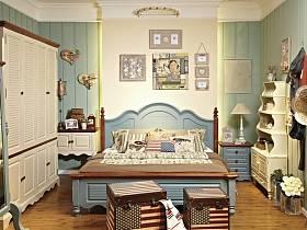 地中海卧室衣柜设计案例