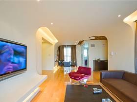 现代客厅三室两厅两卫装修效果展示